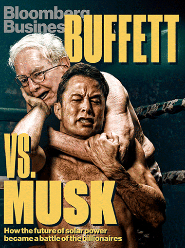 Bloomberg Buffett vs Musk