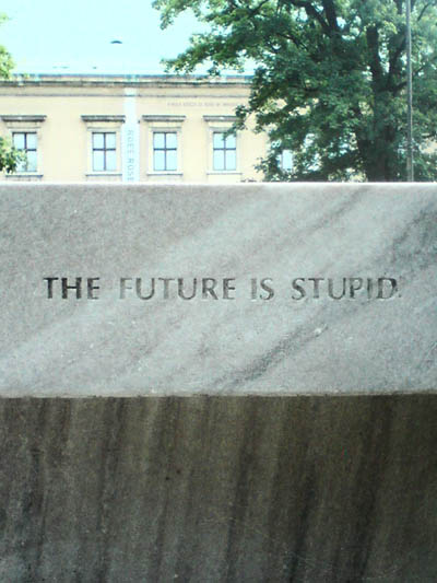 Jenny Holzer The Future Is Stupid Warsaw